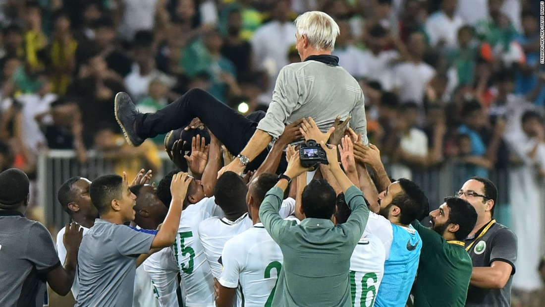The Green Falcons beat Japan in the final round of Asian qualifying to finish second in a tightly contested group and book their place at Russia 2018.