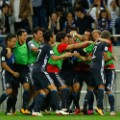 japan celebrate world cup qualification against australia