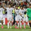 iran players celebrate football