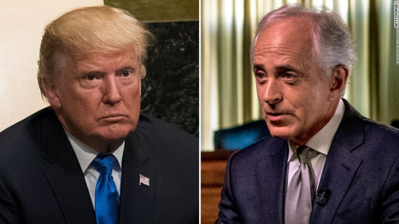 Corker's tumultuous relationship with Trump