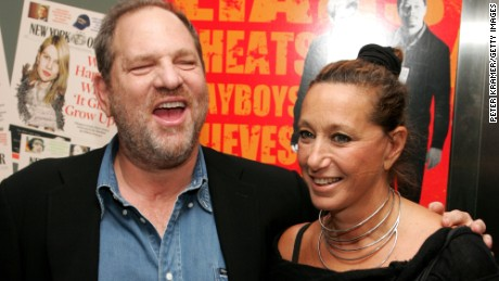 "NEW YORK - AUGUST 22:  Producer Harvey Weinstein and designer Donna Karan attend the New York Premiere of ""The Hunting Party"" at the Paris Theater on August 22, 2007 in New York City.  (Photo by Peter Kramer/Getty Images)"