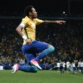 Neymar celebrates world cup qualifiers