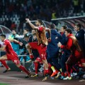 serbia mitrovic celebrate world cup qualification