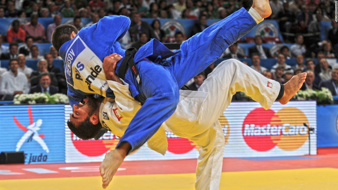 """I have been a judo fan all my life,"" says Willingham. ""I was a volunteer at the Athens 2004 Olympics in the judo and watched Ilias Iliadis win Olympic gold at 17 years old (I was 16 at the time). So for me, it has been amazing to be able to document the ups and downs of his career so closely. He is one of the most spectacular judokas, when he's on the mat something extraordinary invariably happens! He is also one of my favorite judoka of all time. I have two shots of him that I particularly like. This is at the 2011 World Championships in Paris, which he would go on to win to become a double world champion. In the semifinal against one of his great rivals Kiril Denisov, he threw with this incredible Ura Nage for ippon to put him into the final."""