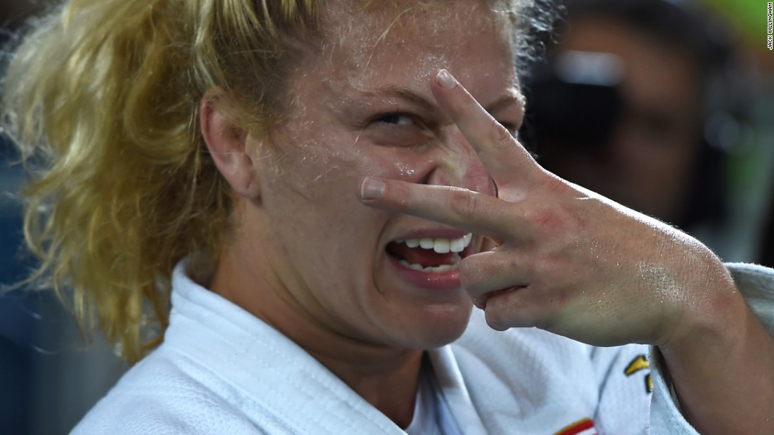"""I have a great friendship with Kayla Harrison, so for her to pick me out and strike a pose as she won her second Olympic title in Rio was really cool. She's a great character, and probably the most determined and mentally tough athlete I've come across."""