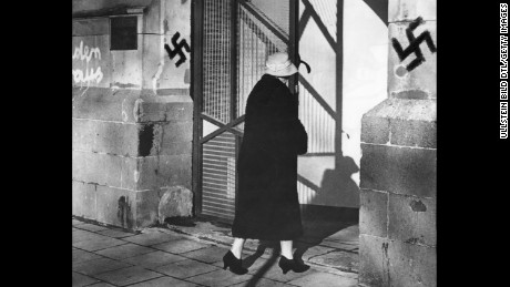 In 1959, a synagogue in Cologne, Germany, was one of the places desecrated with Nazi imagery.