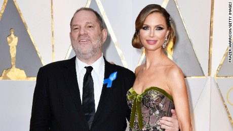 HOLLYWOOD, CA - FEBRUARY 26:  Producer Harvey Weinstein (L) and Georgina Chapman attend the 89th Annual Academy Awards at Hollywood & Highland Center on February 26, 2017 in Hollywood, California.  (Photo by Frazer Harrison/Getty Images)