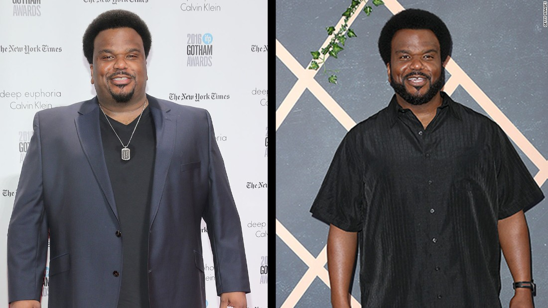 Actor Craig Robinson said in October that he lost 50 lbs. by giving up alcohol, working out and going vegan.