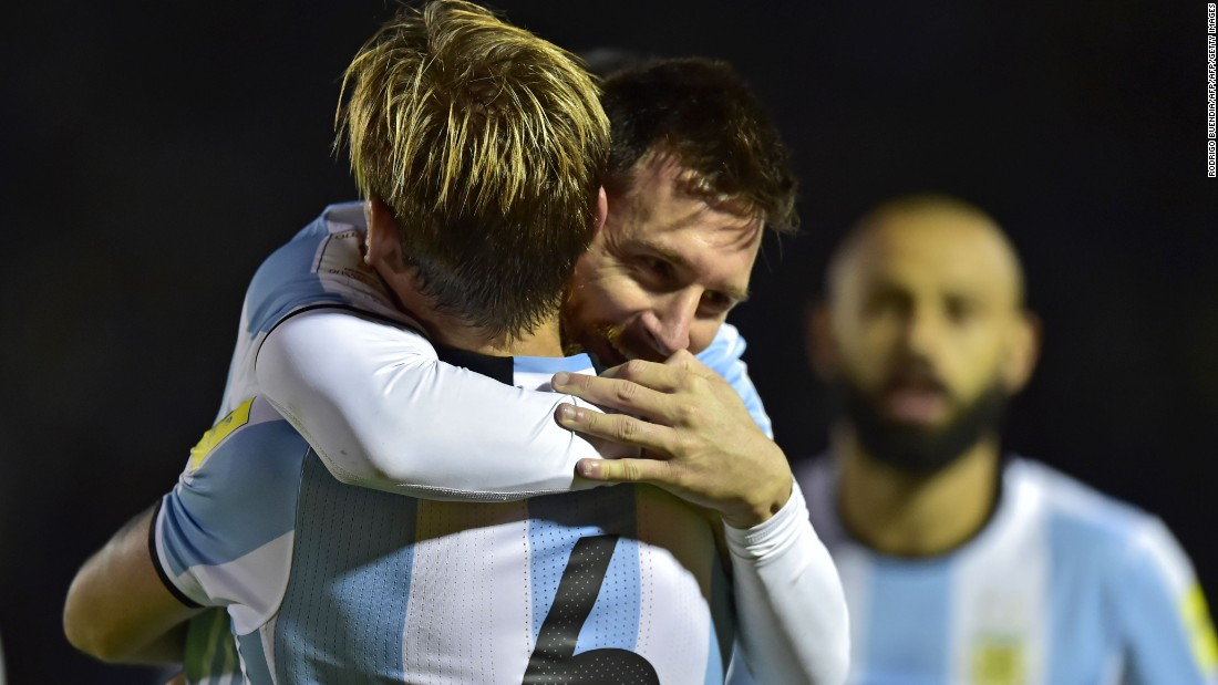 A hat-trick from Lionel Messi propelled Argentina into third in the South American qualifying table and an automatic spot. It was Messi's 44th career hat-trick and his fifth for Argentina.
