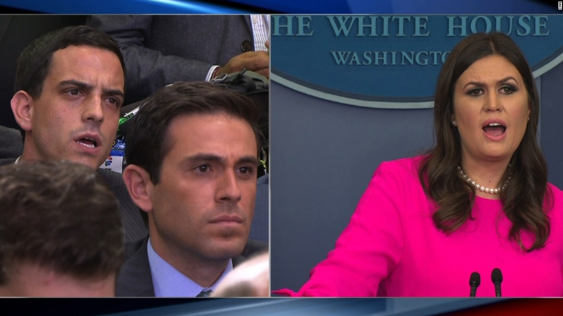 An absolutely maddening exchange between Sarah Sanders and the media