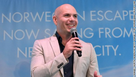 NEW YORK, NY - OCTOBER 11:  Godfather Pitbull attends Norwegian Escape heads to NYC event at PHD at the Dream Downtown on October 11, 2017 in New York City.  (Photo by Bryan Bedder/Getty Images for Norwegian Cruise Line)