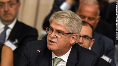 Spain's Foreign Minister Alfonso Dastis Quecedo attends the 12th Conference of the Ambassadors of Italy at Farnesina in Rome on July 24, 2017. / AFP PHOTO / Andreas SOLAROANDREAS SOLARO/AFP/Getty Images