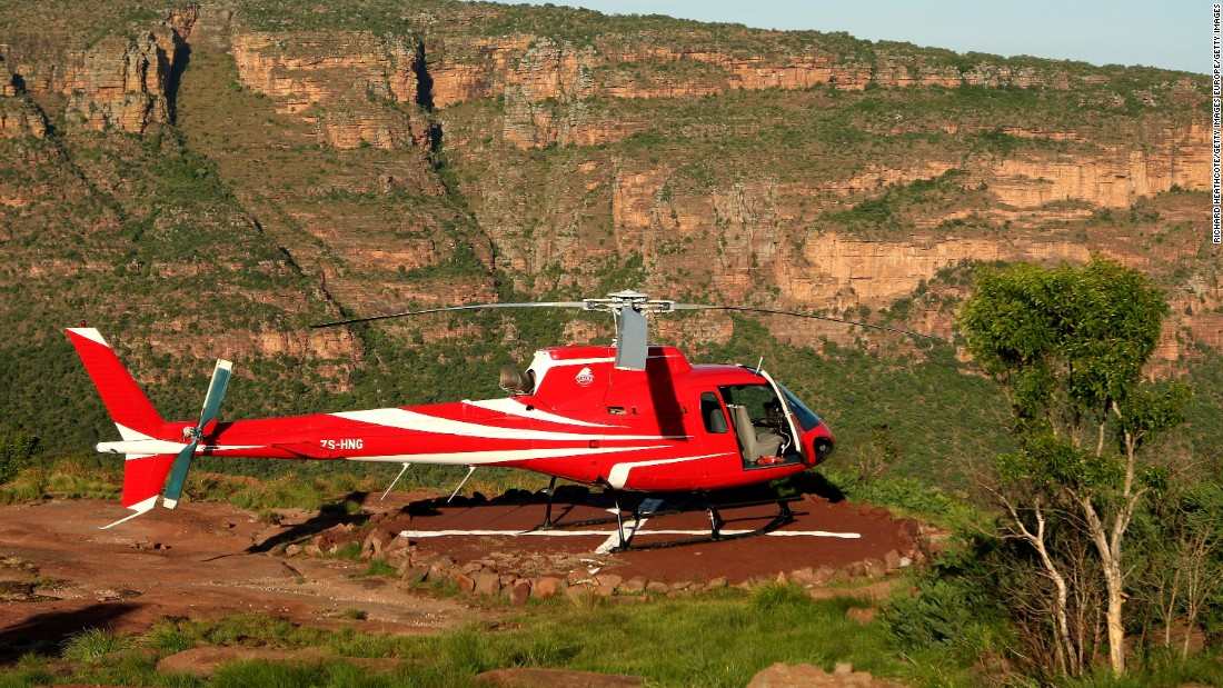 To play the 19th hole at Legends Golf Resort in South Africa, you have to take a helicopter to the tee, which is perched on top of a mountain.