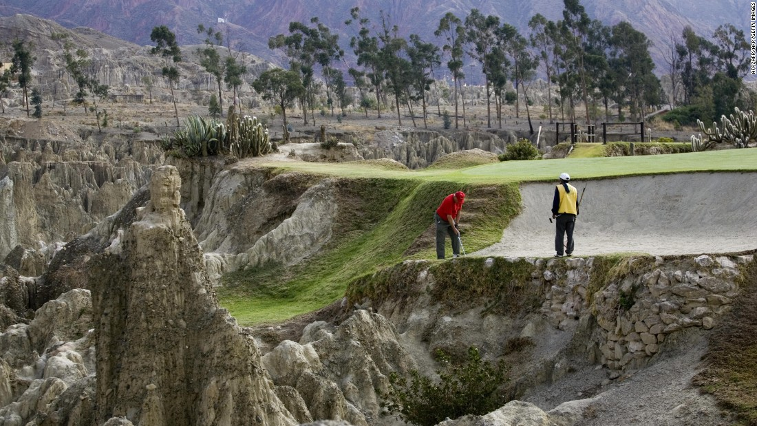 Bolivia's La Paz Golf Club is considered to be the highest in the world, with parts of the course 3,342 meters (almost 11,000 feet) above sea level.