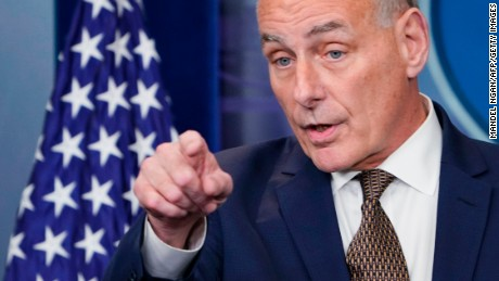 John Kelly's unusual news conference