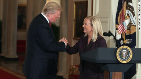 Trump nominates Kirstjen Nielsen for DHS secretary