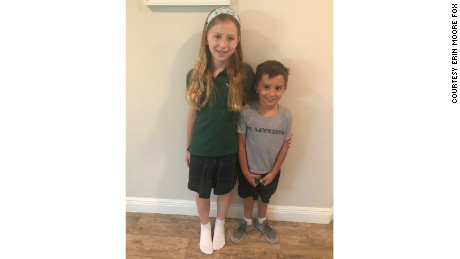 Madeline Fox, 9, and Jase Romano, 5.