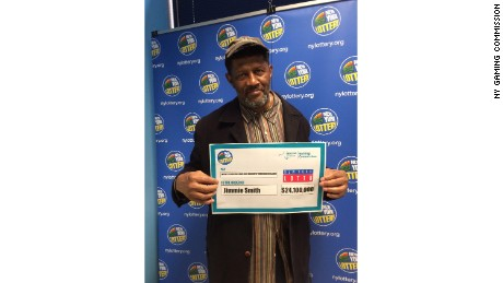 Jimmie Smith claimed the $24.1 million New York Lotto jackpot from the drawing held on May 25, 2016 - just days before the ticket was set to expire.