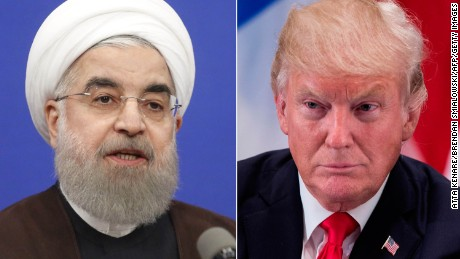 Trump says Iran violating nuclear agreement, threatens to pull out of deal