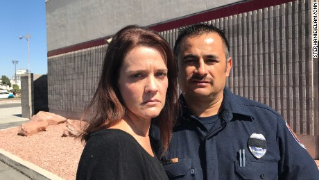 Clark County Firefighter Jesse Gomez and his wife Debbie.