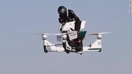 Watch Dubai Police test its latest gadget -- a flying motorbike