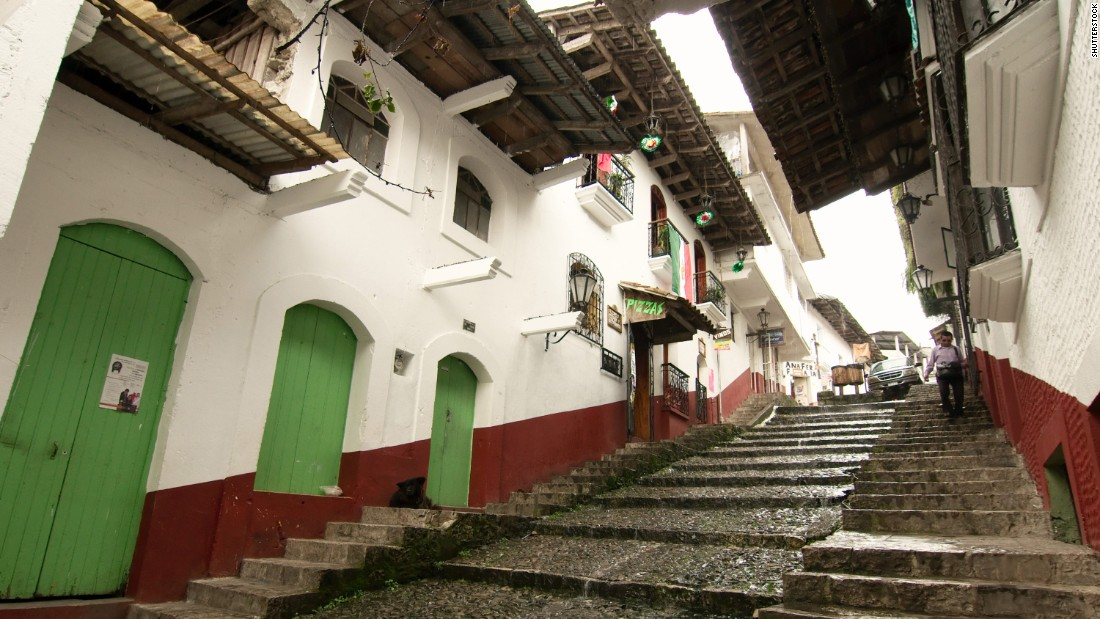 <strong>Cuetzalan, Puebla:</strong> Cobblestone streets and rustic, red-tile-roofed buildings are part of the charm of this small town in the mountains outside of Puebla.