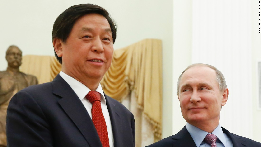 <strong>Li Zhanshu</strong> (left), 67, is a longtime ally of President Xi.