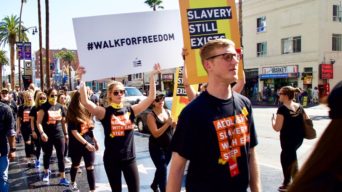 """We got so many encouraging words, so many car horns, people shouting their support,"" said A21 co-founder Christine Caine, at the LA Walk for Freedom"