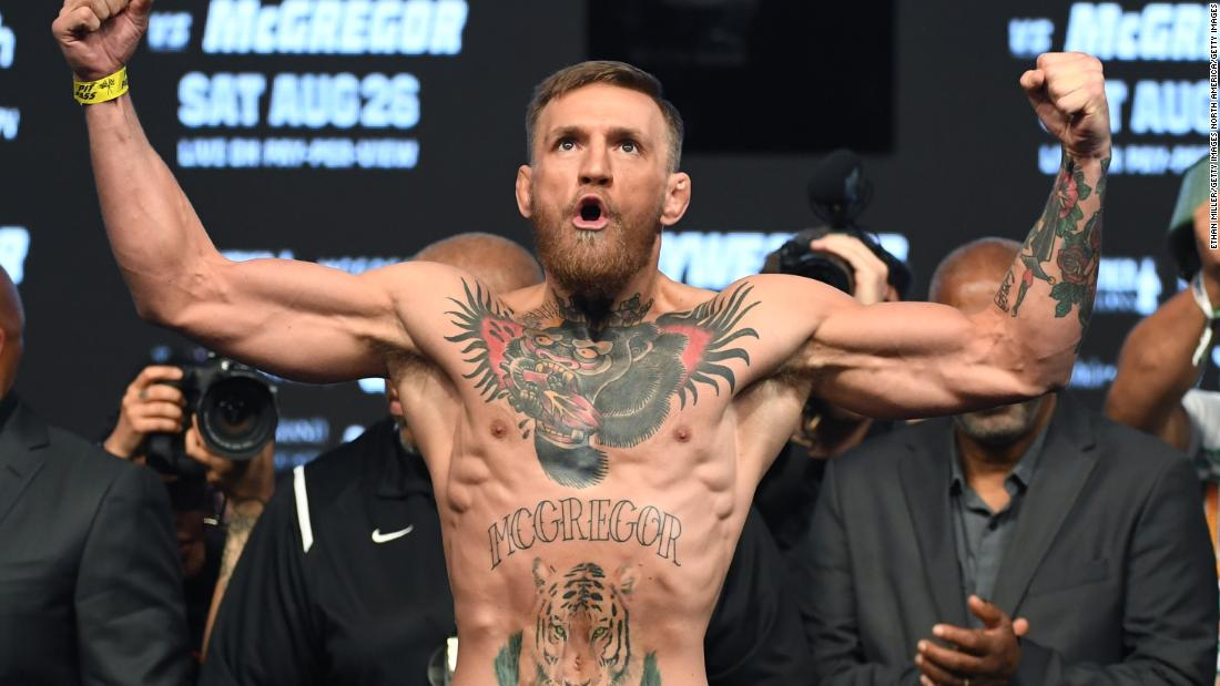 UFC star Conor McGregor has clearly been a regular visitor to the tattoo parlor over the last 18 months. He has a large tattoo across his abdomen and his left forearm, and a silverback gorilla wearing a crown on his chest.
