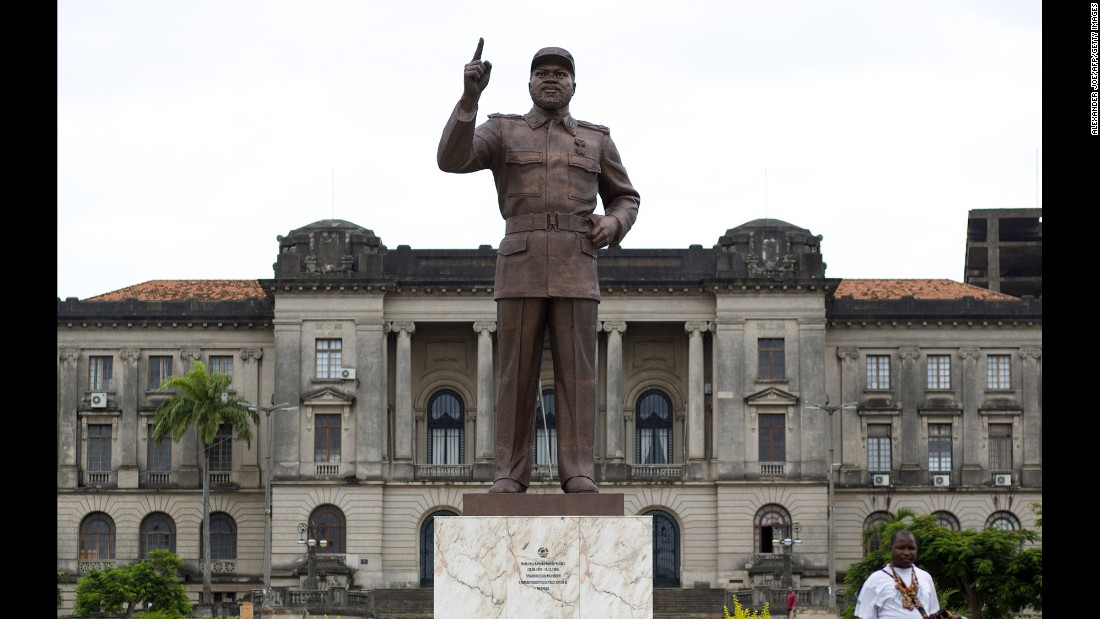A statue of Mozambique's first president Samora Moises Machel in Maputo.