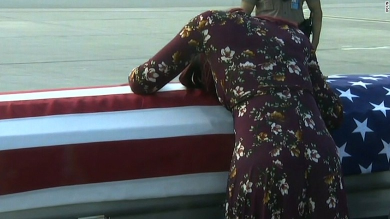Trump under fire over call to fallen soldier's widow