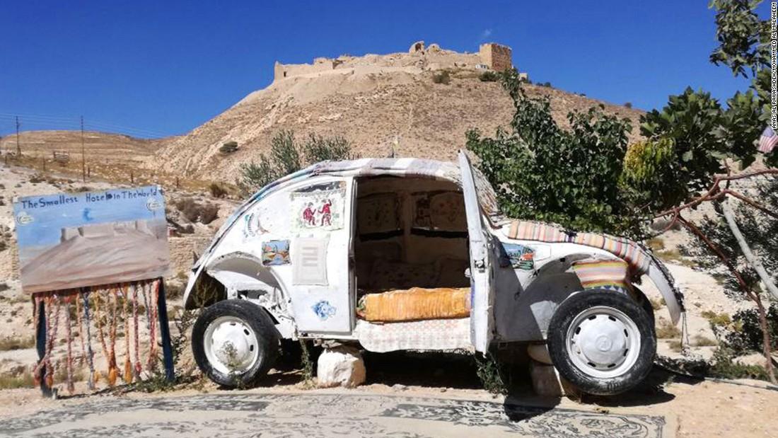 tiny hotel  jordan    volkswagen beetle cnn travel