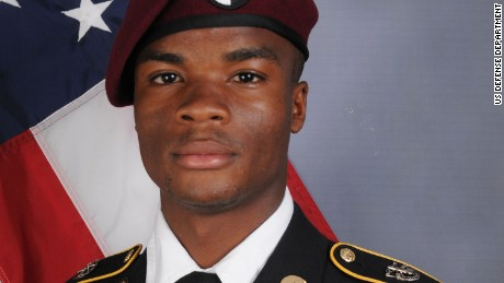 Sgt. La David T. Johnson who was part of a joint U.S. and Nigerien train, advise and assist mission. Sgt. Johnson, 25, of Miami Gardens, Florida, died October 4, 2017 in southwest Niger as a result of enemy fire.