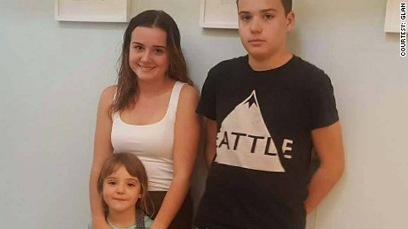 Claudia,18, with her siblings Martim, 14, and Mariana, 5. All three are part of the group taking on the Council of Europe.