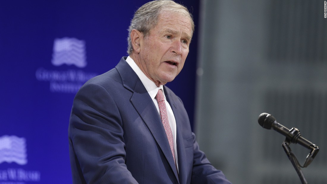cnn.com - Maegan Vazquez - George W. Bush: Bigotry and white supremacy are 'blasphemy' against the American creed