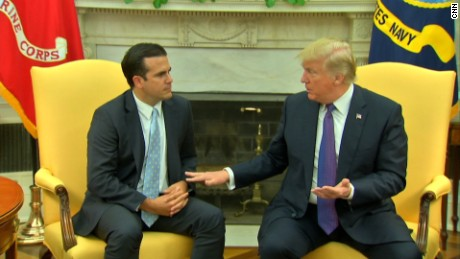 Trump puts Puerto Rico governor on the spot