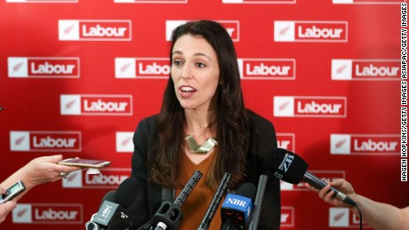 WELLINGTON, NEW ZEALAND - SEPTEMBER 26:  Labour leader Jacinda Ardern speaks during a press conference at Parliament on September 26, 2017 in Wellington, New Zealand. With results too close to call, no outright winner between National's Bill English and Labour's Jacinda Ardern has been able to be announced following the general election on Saturday 23 September.  (Photo by Hagen Hopkins/Getty Images)