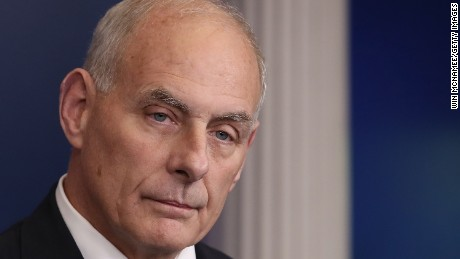 WASHINGTON, DC - OCTOBER 19:  White House Chief of Staff John Kelly speaks during a White House briefing October 19, 2017 in Washington, DC.