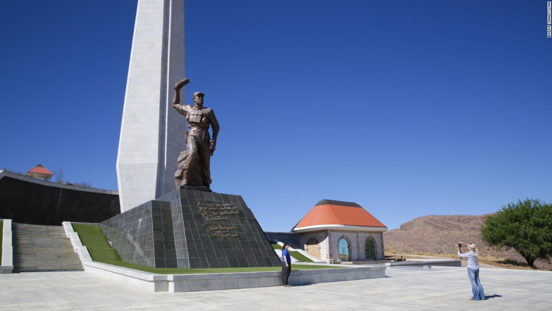 The Hero's Acre statue in Namibia.