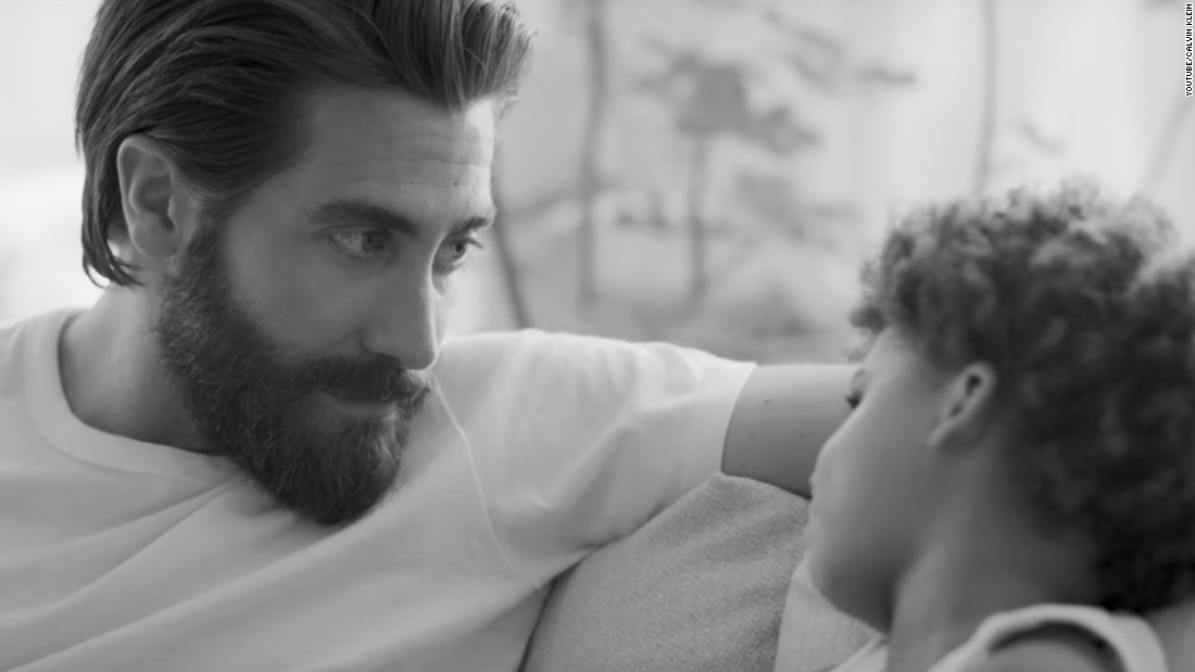 Jake Gyllenhaal appears in Calvin Klein ad as a doting father