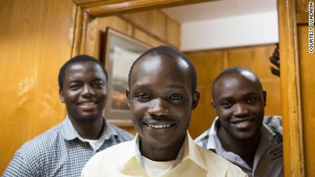 Co-founders of Usalama: Edwin Inganji (center), Marvin Makau (l) and Kenneth Gachukia (r). Photo Credit: Usalama