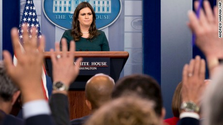 Sarah Sanders just made an absolutely outrageous argument about the media