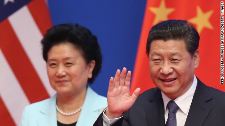 BEIJING, CHINA - JULY 09:  Chinese President Xi Jinping (R) and Vice Premier Liu Yandong (L) arrive the opening ceremony of the 6th China-U.S. Security and Economic Dialogue and 5th round of China-U.S. High Level Consultation on People-to-People Exchange at Diaoyutai State Guest House on July 9, 2014 in Beijing, China.  (Photo by Feng Li/Getty Images)
