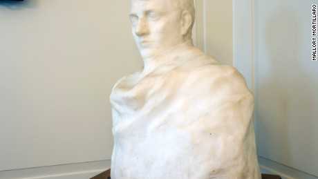 A bust of Napoleon Bonaparte in the Hartley Dodge Memorial in Madison, New Jersey