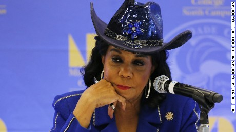 MIAMI, FL - OCTOBER 19: Rep. Frederica Wilson (D-FL) listens to testimony at a Congressional field hearing on nursing home preparedness and disaster response October 19, 2017 in Miami, Florida.