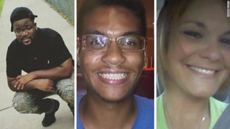 (Left to right) Benjamin Mitchell, Anthony Naiboa and Monica Hoffa were each killed within 11 days in a Tampa, Florida neighborhood.