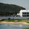 eighteenth green cj cup nine bridges south korea golf