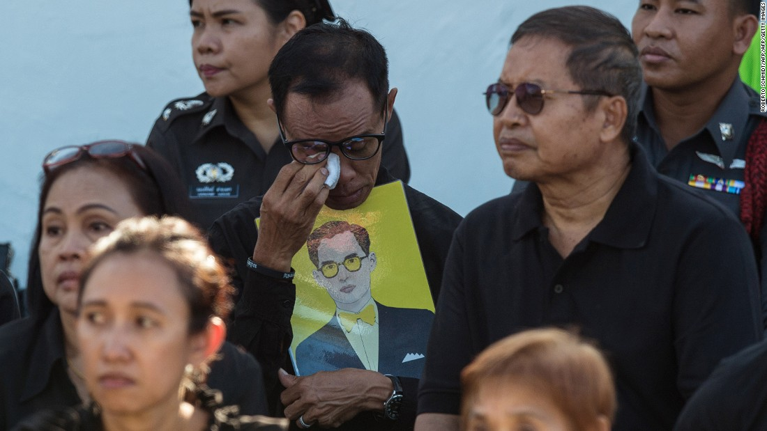 "<strong>'Father of the nation': </strong>The late king, often called the ""father of the nation,"" was beloved and respected among his subjects. Many Thai citizens went to pay respects during a cremation dress rehearsal on October 21."