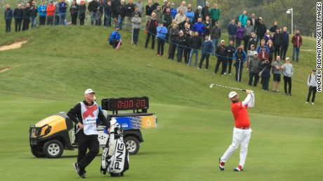 The shot clock was trialed at the European Tour's GolfSixes event in May.