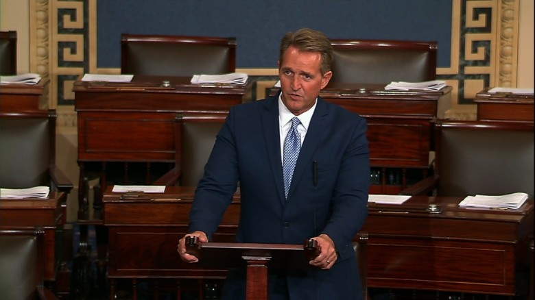 Image result for Sen Jeff Flake October 24 floor speech
